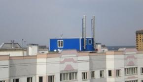 Крышная котельная многоэтажного дома
